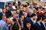 Palestinian Hamas Chief Ismail Haniyeh gestures during tents protest where Palestinians demanding the right to return to their homeland and against U.S. embassy move to Jerusalem at the Israel-Gaza border, at the Israel-Gaza border, in east of Gaza city, on May 25, 2018. Photo by Dawoud Abo Alkas