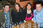 6258-6260.Enjoying their New Year's Eve in Kirby's Bar, Ballyheigue were l/r Seamus & Michelle Corr from Ballyheigue and Chris & Martin Scanlon from Lixnaw.