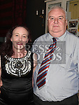 John Geraghty and Christine Gregory pictured at the Duleek and District Darts League 40th anniversary dinner in the westcourt hotel. Photo:Colin Bell/pressphotos.ie