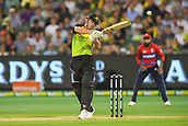 10th February 2018, Melbourne Cricket Ground, Melbourne, Australia; International Twenty20 Cricket, Australia versus England;  Chris Lynn of Australia dodges a bouncer