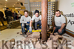 Pictured at the Kerry ETB Further Education and Training Fair at the Brandon Hotel, Tralee, on Wednesday morning last were l-r: Brian O'Mahony, Martin McDonough and Kieran Comar, who are studying stone cutting and stone mason course at Kerry ETB Training Centre, Monavalley, Tralee.