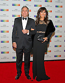 Les Moonves and Julie Chen arrive for the formal Artist's Dinner honoring the recipients of the 38th Annual Kennedy Center Honors hosted by United States Secretary of State John F. Kerry at the U.S. Department of State in Washington, D.C. on Saturday, December 5, 2015. The 2015 honorees are: singer-songwriter Carole King, filmmaker George Lucas, actress and singer Rita Moreno, conductor Seiji Ozawa, and actress and Broadway star Cicely Tyson.<br /> Credit: Ron Sachs / Pool via CNP