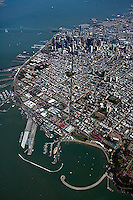 aerial photograph overview  Columbus Avenue to Financial District San Francisco, California