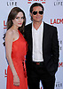 "ANGELINA JOLIE AND BRAD PITT .attend the Los Angeles Premiere of ""The Tree Of Life"" held at the Bing Theatre, LACMA, Los Angeles, California_24/05/2011.Mandatory Photo Credit: ©Crosby/Newspix International..**ALL FEES PAYABLE TO: ""NEWSPIX INTERNATIONAL""**..PHOTO CREDIT MANDATORY!!: NEWSPIX INTERNATIONAL(Failure to credit will incur a surcharge of 100% of reproduction fees)..IMMEDIATE CONFIRMATION OF USAGE REQUIRED:.Newspix International, 31 Chinnery Hill, Bishop's Stortford, ENGLAND CM23 3PS.Tel:+441279 324672  ; Fax: +441279656877.Mobile:  0777568 1153.e-mail: info@newspixinternational.co.uk"