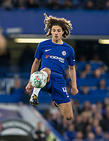 Ethan Ampadu of Chelsea controls the ball during the Carabao Cup round of 16 match between Chelsea and Everton at Stamford Bridge, London, England on 25 October 2017. Photo by Andy Rowland.