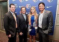 Randy Waldrum, Brian Ching, Kealia Ohai. The NWSL draft was held at the Pennsylvania Convention Center in Philadelphia, PA, on January 17, 2014.
