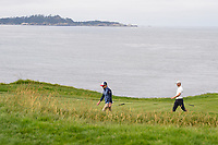 Zach Johnson (USA) and Martin Kaymer (GER) make their way down 8 during round 1 of the 2019 US Open, Pebble Beach Golf Links, Monterrey, California, USA. 6/13/2019.<br /> Picture: Golffile | Ken Murray<br /> <br /> All photo usage must carry mandatory copyright credit (© Golffile | Ken Murray)