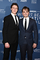 George Mackay and Dean Charles Chapman<br /> arriving for the Newport Beach Film Festival UK Honours 2020, London.<br /> <br /> ©Ash Knotek  D3551 29/01/2020