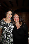 """Saundra Santiago (GL - """"Carmen Santos"""" and OLTL """"Carlotta Vega"""" and Sopranos) & Aida Turturro (Sopranos) attended Chiller Theatre Spring Extravaganza was held on April 27, 2014 at the Parsippany Sheraton Hotel in Parsippany, New Jersey.  (Photo by Sue Coflin/Max Photos)"""