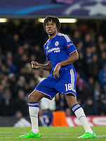 Loic Remy of Chelsea during the UEFA Champions League group G match between Chelsea and FC Porto at Stamford Bridge, London, England on 9 December 2015. Photo by Andy Rowland.