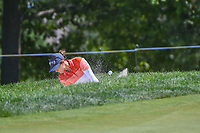 Azahara Munoz (ESP) hits from the trap on 13 during round 2 of the 2018 KPMG Women's PGA Championship, Kemper Lakes Golf Club, at Kildeer, Illinois, USA. 6/29/2018.<br /> Picture: Golffile | Ken Murray<br /> <br /> All photo usage must carry mandatory copyright credit (&copy; Golffile | Ken Murray)