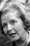 Mrs Margaret Thatcher on factory visit West Midlands,1979 General Election campaign England. UK
