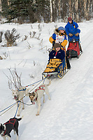 Melanie Shirilla w/Iditarider on Trail 2005 Iditarod Ceremonial Start near Campbell Airstrip Alaska SC
