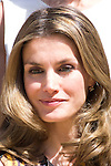 26.07.2012. Princess Letizia of Spain attends audience with the  representation of Toledo Athletic Club, chaired by Julian Martin Garrido at Zarzuela Palace. In the image Princess Letizia (Alterphotos/Marta Gonzalez)