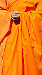Buddhist Monk 02 - Buddhist monk with clasped hands at the Buddha Birthday Festival, Perth, WA, Australia