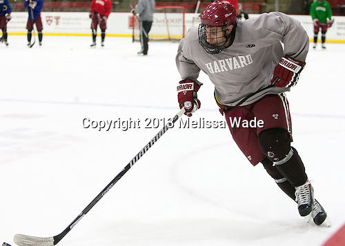 Phil Zielonka (Harvard - 72) - The Harvard University Crimson practiced on Friday, October 22, 2013, at Bright-Landry Hockey Center in Cambridge, Massachusetts.