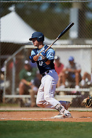Jake Holland during the WWBA World Championship at the Roger Dean Complex on October 18, 2018 in Jupiter, Florida.  Jake Holland is a catcher from Clermont, Florida who attends Montverde Academy and is committed to Georgia Tech.  (Mike Janes/Four Seam Images)