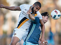Carson, CA - July 20, 2016: The LA Galaxy defeated the Seattle Sounders FC 4-2 in the 2016 Lamar Hunt U.S. Open Cup Quarterfinal Round to advance to the tournament Semifinals at StubHub Center Track and Field Stadium.