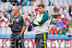 Eamon Fitzmaurice, Kerry Manager, before his team played Kildare in the All Ireland Quarter Final at Croke Park on Sunday.