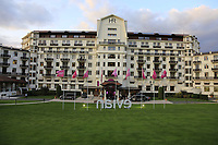 The opening ceremony of The Evian Championship 2017, the final Major of the ladies season, held at Hotel Royal, Evian-les-Bains, France. 12th September 2017.<br /> Picture: Eoin Clarke | Golffile<br /> <br /> <br /> All photos usage must carry mandatory copyright credit (&copy; Golffile | Eoin Clarke)