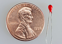 Thermistors and Copper Penny (to show scale)
