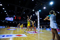A general view of the Constellation Cup Series international netball match between the New Zealand Silver Ferns and Samsung Australian Diamonds at TSB Bank Arena in Wellington, New Zealand on Thursday, 18 October 2018. Photo: Dave Lintott / lintottphoto.co.nz