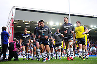 The Bristol Rugby team make their way into the changing rooms after the pre-match warm-up. Greene King IPA Championship Play-off Final (second leg), between Bristol Rugby and Doncaster Knights on May 25, 2016 at Ashton Gate Stadium in Bristol, England. Photo by: Patrick Khachfe / JMP