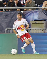 New York Red Bulls forward Sebastien Le Toux (9) collects a pass. Despite a red-card man advantage, in a Major League Soccer (MLS) match, the New England Revolution tied New York Red Bulls, 1-1, at Gillette Stadium on September 22, 2012.