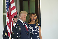 United States President Donald J. Trump and First lady Melania Trump await the arrival of Prime Minister Benjamin Netanyahu, and his wife Sara, of Israel, to the White House in Washington, DC on Tuesday, September 15, 2020. <br /> Credit: Chris Kleponis / Pool via CNP /MediaPunch