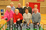 BOWLING FOR KILLORGLIN: Members of the new indoor bowling club at the Killorglin sports complex on Friday, front l-r: Eileen McGillycuddy, Mary Murphy, Margaret Gill, Michael O'Sullivan. Back l-r: Patricia Newham, James Murphy, Terry Newham, Madge Gill.   Copyright Kerry's Eye 2008