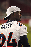 Aug. 31, 2006; Glendale, AZ, USA; Denver Broncos cornerback (24) Champ Bailey against the Arizona Cardinals at Cardinals Stadium in Glendale, AZ. Mandatory Credit: Mark J. Rebilas