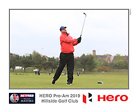 Playing with Aaron Rai (ENG) on the 10th tee during the Pro-Am of the Betfred British Masters 2019 at Hillside Golf Club, Southport, Lancashire, England. 08/05/19<br /> <br /> Picture: Thos Caffrey / Golffile<br /> <br /> All photos usage must carry mandatory copyright credit (&copy; Golffile | Thos Caffrey)