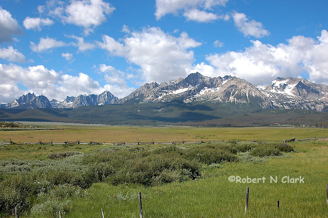 Sawtooth Mountains at Stanely, Idaho