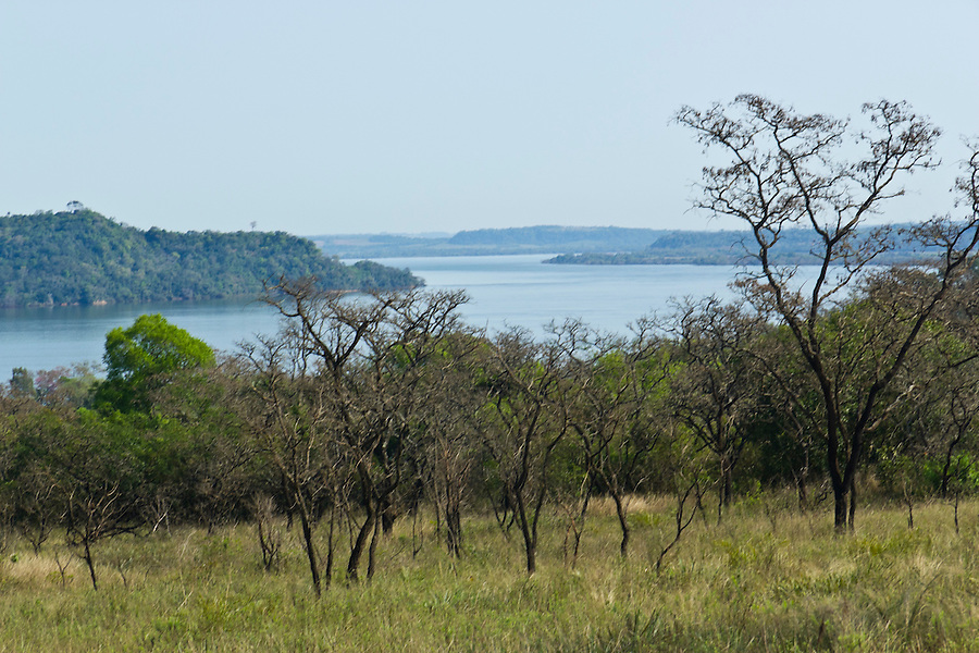 View of the Rio Parana from San Ignacio, Misiones, Argentina.