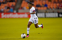 HOUSTON, TX - JANUARY 28: Crystal Dunn #19 of the United States moves with the ball during a game between Haiti and USWNT at BBVA Stadium on January 28, 2020 in Houston, Texas.