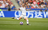 DECINES-CHARPIEU, FRANCE - JULY 07: Becky Sauerbrunn #4 during the 2019 FIFA Women's World Cup France Final match between Netherlands and the United States at Groupama Stadium on July 07, 2019 in Decines-Charpieu, France.