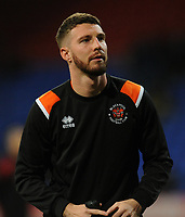 Blackpool's James Husband during the pre-match warm-up <br /> <br /> Photographer Kevin Barnes/CameraSport<br /> <br /> The EFL Sky Bet League One - Bolton Wanderers v Blackpool - Monday 7th October 2019 - University of Bolton Stadium - Bolton<br /> <br /> World Copyright © 2019 CameraSport. All rights reserved. 43 Linden Ave. Countesthorpe. Leicester. England. LE8 5PG - Tel: +44 (0) 116 277 4147 - admin@camerasport.com - www.camerasport.com
