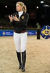 HKJC JETS learn from Edwina Tops-Alexander and Kenneth Cheng as part of a series of international rider clinics at the 2014 Longines HK Masters at the Asia World Expo in Hong Kong, China. Photo by Andy Jones / Power Sport Images