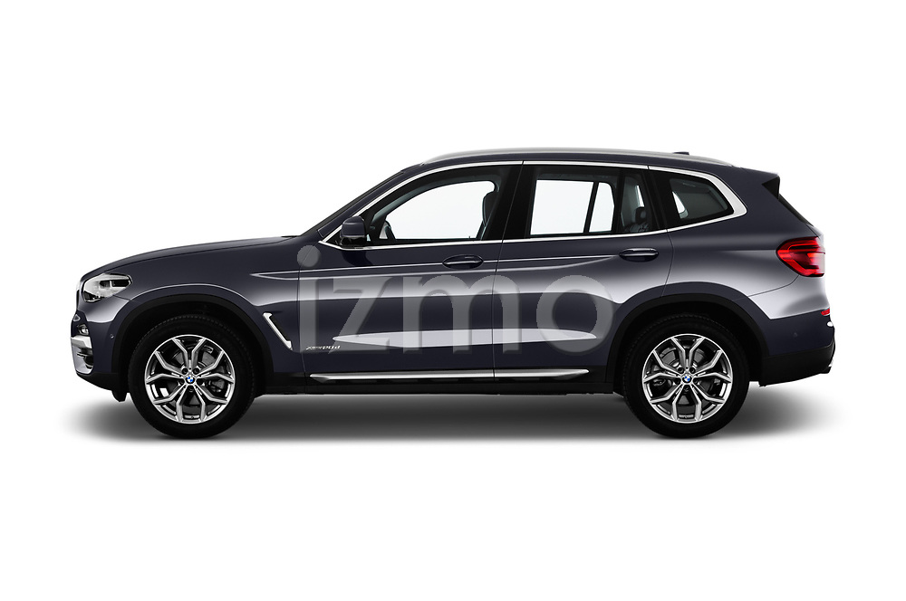 Car driver side profile view of a 2018 BMW X3 xLine 5 Door SUV