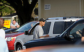 Honolulu, HI - December 22, 2008 -- United States President-elect Barack Obama walks back to his motorcade at Marine Corps Base Hawaii Kaneohe Bay to return to his rental house in Kailua, Hawaii on Monday, December 22, 2008..Credit: Joaquin Siopack - Pool via CNP