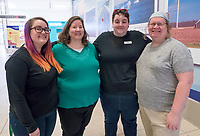 Members of the Sarnia Pride and Transgender Association, are from left; Jessica Baker, Rose Druiett, Rachel Dawson and Kendra Druiett. <br /> <br /> Absent are Taylor Leduc, Brooke Harold, Richard Renaud, Laura Baker, Meghan Cunningham and Lila Palychuk.