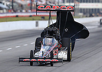 May 16, 2015; Commerce, GA, USA; NHRA top fuel driver Steve Torrence during qualifying for the Southern Nationals at Atlanta Dragway. Mandatory Credit: Mark J. Rebilas-USA TODAY Sports