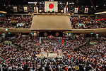 Tokyo, May 23 2013 - Ring entering ceremony for the Makuuchi.
