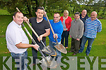 OWEN TO FINISH.DIG DEEP: Preparing for the new World Hole Digging Championships to be held in Milltown on Sunday, 28th August, l-r: Padraig Clifford, Pete Hill, ???, Jackie Battles, Cllr Michael O'Shea, Sean Doona, Maurice Harmon.