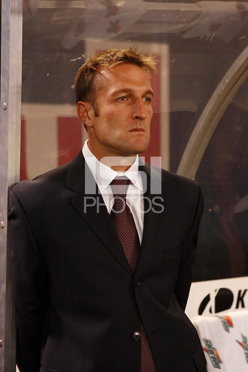 Real Salt Lake head coach Jason Kreis. The NY Red Bulls and Real Salt lake played to a 2-2 tie in an MLS regular season match at Giants Stadium, East Rutherford, NJ, on September 29, 2007.
