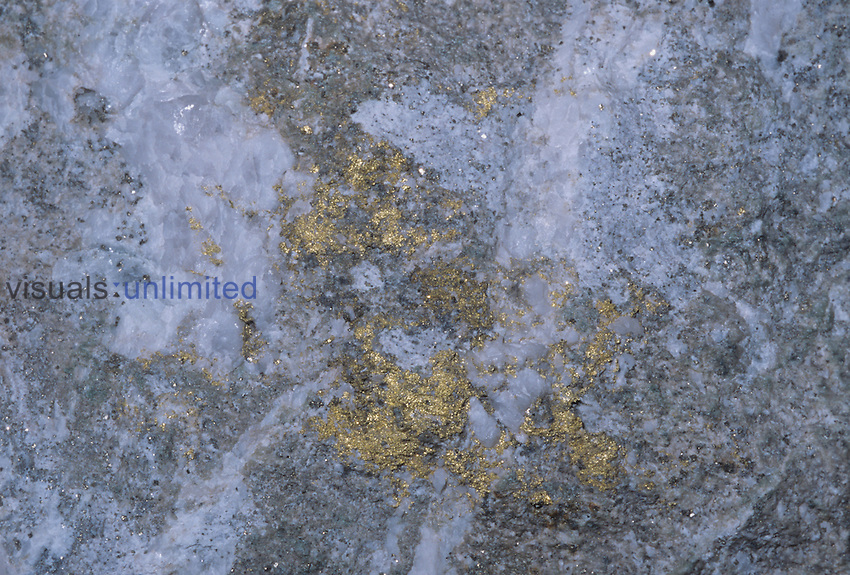 Gold with quartz in mariposite Jamestown Mine, Tuolumne County California, USA