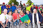 Kerry footballers Brendan Kealy and Colm Cooper with Kerry Rose Carina McCarthy starts the annual Ring of Kerry cycle in Killarney on Saturday morning  ..
