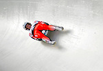 6 February 2009: Martina Kocher from Switzerland slides through a curve in the Women's Competition finishing with a combined time of 1:29.765 at the 41st FIL Luge World Championships, in Lake Placid, New York, USA. .  .Mandatory Photo Credit: Ed Wolfstein Photo