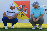 Haydn Porteous (RSA) &amp; Andy Sullivan (ENG) during the second round of the Rocco Forte Sicilian Open played at Verdura Resort, Agrigento, Sicily, Italy 11/05/2018.<br /> Picture: Golffile | Phil Inglis<br /> <br /> <br /> All photo usage must carry mandatory copyright credit (&copy; Golffile | Phil Inglis)