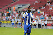 01.08.2015. Cologne, Germany. Pre Season Tournament. Colonia Cup. Valencia CF versus FC Porto.  With the score at 0-0 at full time, penalties were needed to decide the game. Varela steps up first for Porto and scores.